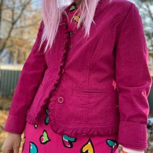 Cute pink Chico's long sleeve button up blazer